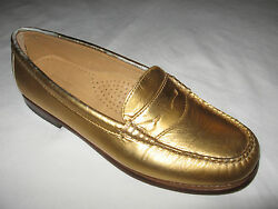 Madewell Bass Bass Wayfarer Color Gold Leather Loafer Shoes