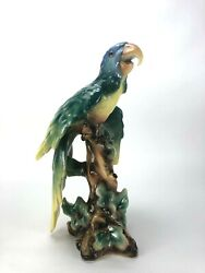 Monumental Parrot Figurine Made In Italy