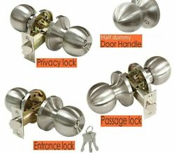 Round Shaped Interior Door Knobs With Latch Lock Cylinder Home Decorative Supply