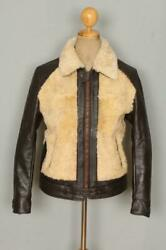 1930s Style Grizzly Reproduction Leather Motorcycle Sports Jacket S/m