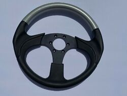 Dino Made In Italy Italian 3 Spoke Vintage 13andrdquo Steering Wheel Black With Silver