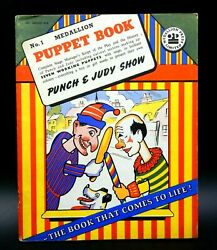 Vintage Punch And Judy Show No. 1 Puppet Book Medallion Press Limited England