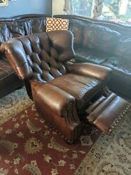 Hancock And Moore Tuffled Recliner Discontinued Extremely Comfortable And Large