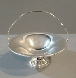 Old Wallingford Sterling Silver Candy Bonbon Dish Basket Style With Handle Mg