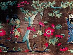 Superb Antique Chinese Tapestry Museum Quality 2 Ft. X 13 Ft. 2 In. Ca1850