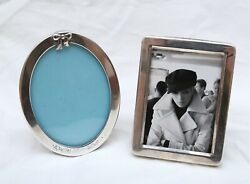 2 Sterling Picture Frames Including A And Co - Photo, Desk, Pic
