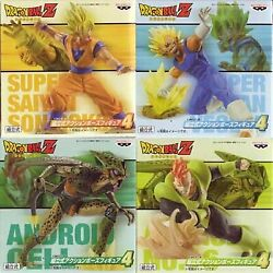 Dragon Ball Z Prefabricated Action Pose Figure 4 All Four Set
