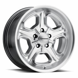 20 Inch 5x4.5 4 Wheels Rims Vision Daytona 147 20x8.5 +32mm Silver