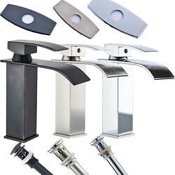 Bathroom Basin Faucet Single Handle/hole Deck Mounted Sink Mixer Tap Waterfall