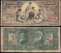 Rare 1896 2 Educational Silver Certificate Free Shipping 2546236