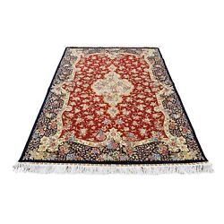 4and0391x6and0394 Red Kishoon 400 Kpsi Pure Silk Hand-knotted Oriental Rug R40184