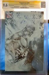 Fantastic Four 600 Cgc 9.6. Hero Initiative Sketch Cover. Signed By Lee Andsayger