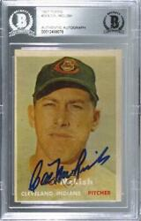 1957 Topps Cal Mclish 364 Bas Certified Encased Auto Rookie