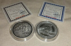 2016 The Train Hobo Nickel 1oz Silver Proof And Antique Version Coin Round Coa