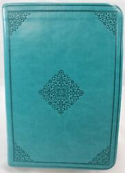 Holy Bible Esv Crossway 2016 English Standard Version Leather Teal Green