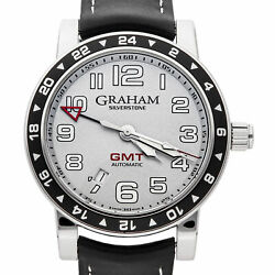 Graham Silverstone Silver Dial Mens Automatic 42mm Strap Watch 2tzas.s01a
