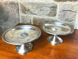 Vintage Sterling Silver Pair Of Watson Company Compotes