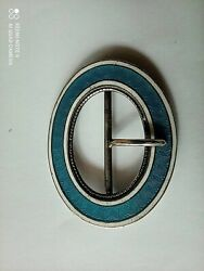 Buckle Silver Enameled Russian Imperial Marked