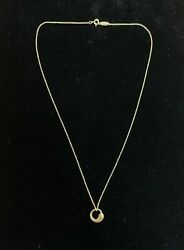 And Co. Elsa Peretti Eternal Circle Necklace 18kt Yellow Gold 18