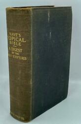 1902 Nave's Topical Bible Digest Of Holy Scriptures Ancient Society