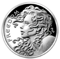 2014 1 Oz .999 Pure Silver Shield Proof Freedom Girl Coa Box Round Coin Sbss Hot