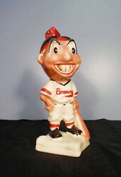 1940s Boston Braves Gold Tooth Indian Bank - Stanford Pottery - Mlb Baseball
