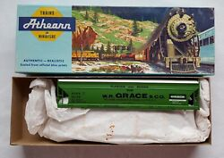 New Ho Scale Athearn Blue-box Wr Grace And Co Hopper Car Shpx 52199 Green