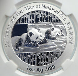 2014 China Official 1oz Silver Mint Medal Coin Panda Smithsonian Ngc Coin I90675