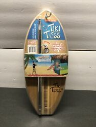 Tiki Toss Game Deluxe Edition Bamboo Outdoor Backyard Family Hook Ring
