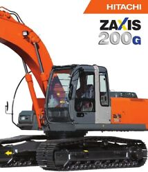 Hitachi Zx200-3g Decals Adhesive Complete Kit