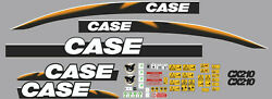 Case Cx210 Decals Adhesive Complete Kit Tri-fold