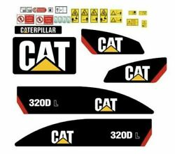Caterpillar 320 D L Decals Adhesive Complete Kit