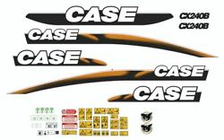 Case Cx240b Decals Adhesive Complete Kit
