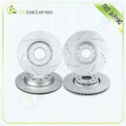 For 2005 2006 Audi A4 3.0l Front And Rear Brake Disc Rotors Drilled And Slotted