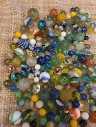 500+ House Clearance Job Lot Antique Vintage Marbles Various Sizes