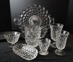 Your Choice -fostoria Glass American - Goblet Sherbet Plate Oyster Tray Pitcher+