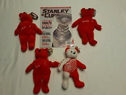 Lot Of Detroit Red Wings Collectibles Salvino's Bammers, Team Ice Bear + Mag.