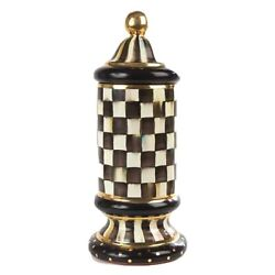 Mackenzie Childs Courtly Check Column Canister