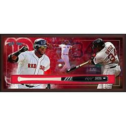 David Ortiz Boston Red Sox Frmd Signed Marucci Game Model Bat Collage Shadowbox