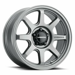 17 Inch 6x139.7 4 Wheels Rims Vision Flow 351 17x9 -12mm Grey