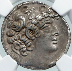 Philip I Qc Bassus Antioch Ancient Old Greek Silver Tetradrachm Coin Ngc I87743