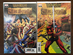 War Of The Realms Lot, War Scrolls, Giant Man, Spiderman, Journey Into Mystery