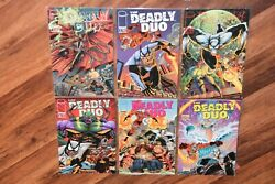 Lot Of 6 The Deadly Duo Image Comic Books 1990s 1 2 3 4 And 1 2 Spawn Appearance
