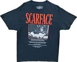 New Men#x27;s Scarface Movie Tony Montana Pacino Vintage Retro 80s Black T Shirt Tee