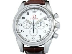 Omega De Ville Co-axial Chronograph Olympic 4841.20.32 Auto Menand039s Watchf3430