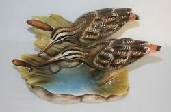 Ronzan 488 .. Pair Of Wading Birds With Insect .. Made In Italy .. 10 X 5
