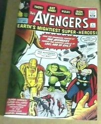 The Avengers 1 September 1963 Marvel Comic Coverless With Facsimile Cover