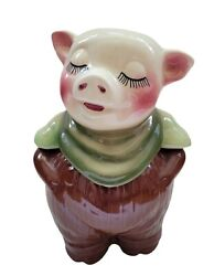 Vintage Shawnee 1940s Smiley Piggy Bank Pig Cookie Jar Made In The Usa Nice