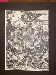 Albrecht Durer The Four Horsemen From The Apocalypse On Laid Paper 1910