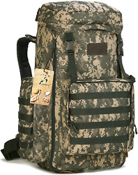 Creator 70-85l Large Capacity Tactical Travel Backpack Molle Hiking Rucksack Out